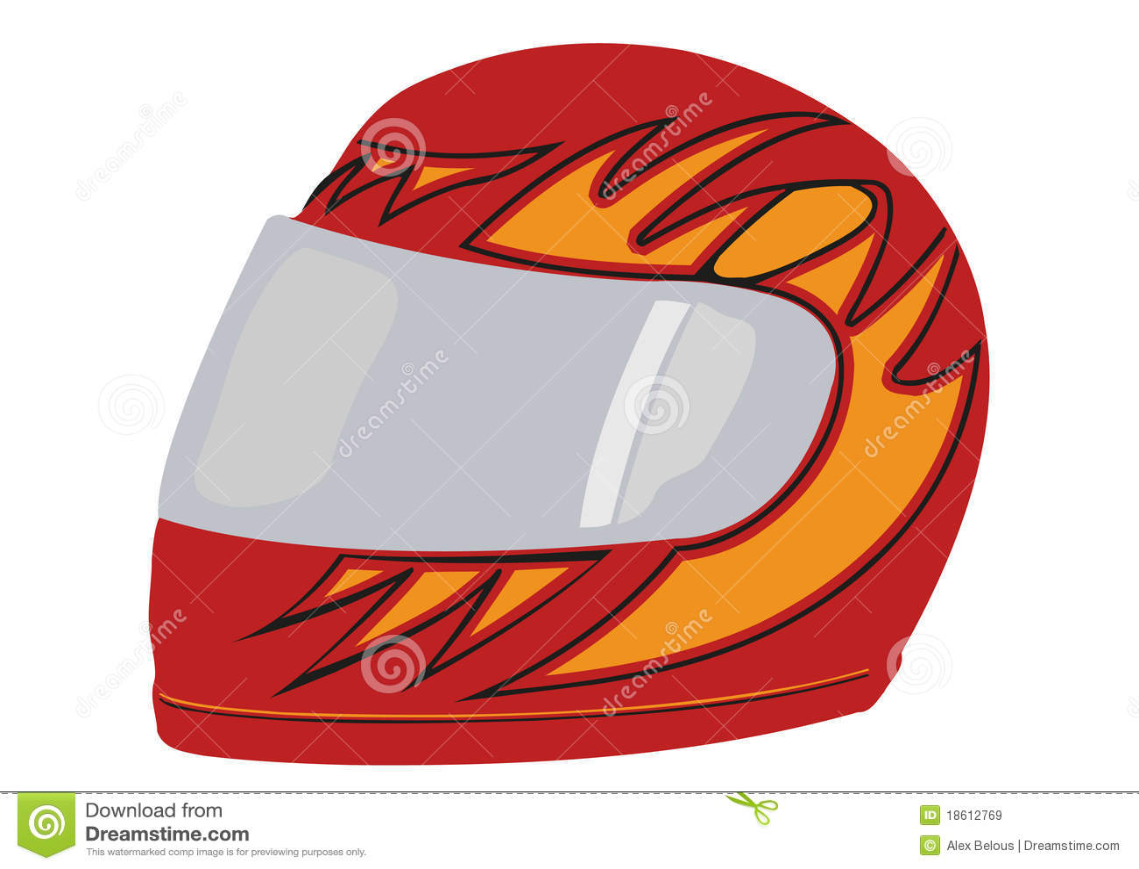 Vector red racing helmet stock vector. Illustration of ...