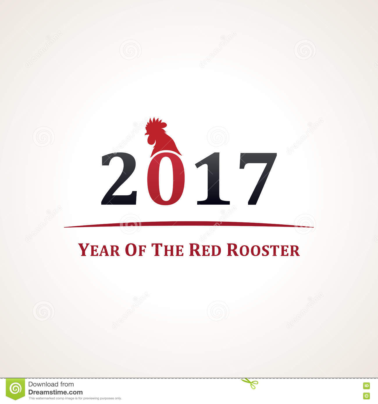 symbol of 2017. The emblem of the New Year according to the Chinese ...