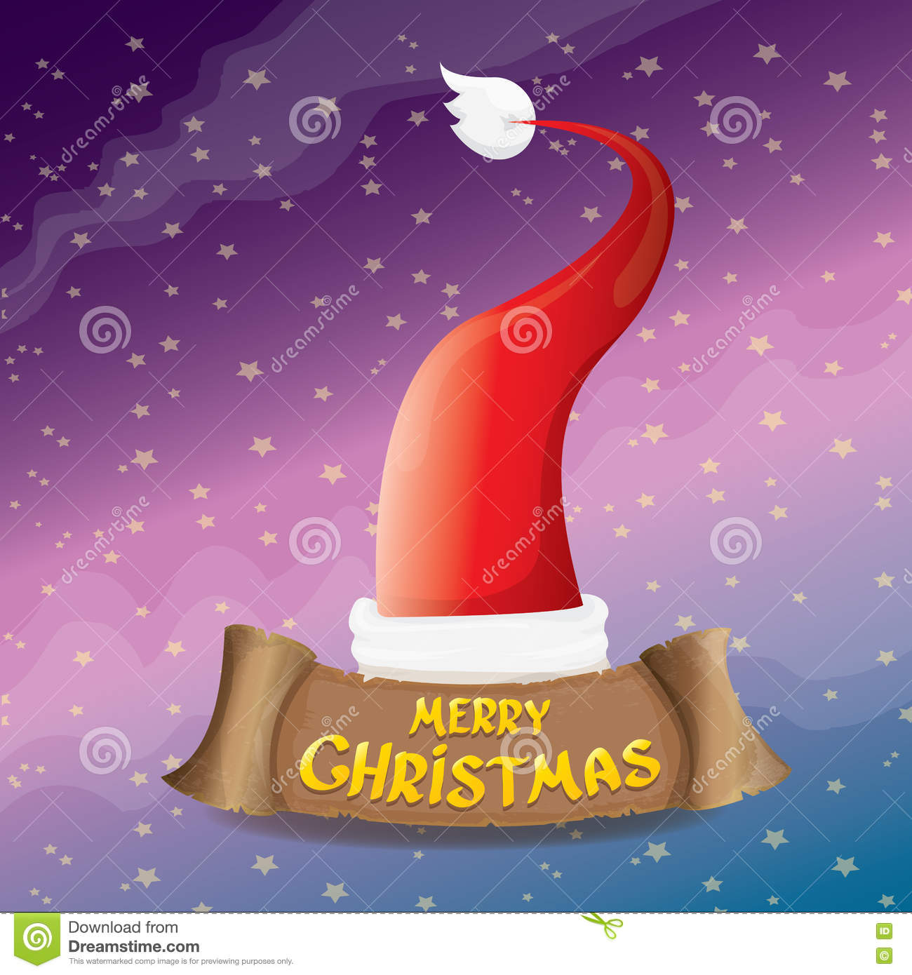 Vector red santa hat greeting text merry christmas stock vector vector red santa hat greeting text merry christmas paper icon biocorpaavc