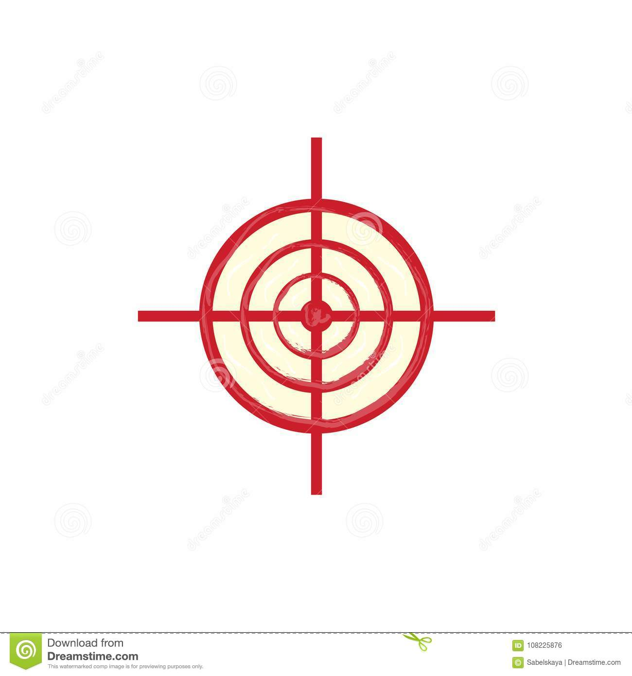 vector red sniper scope aim target icon stock vector illustration of icon bulls 108225876 https www dreamstime com vector red sniper scope aim target icon flat army military february russian defender fatherland day symbol crosshair image108225876