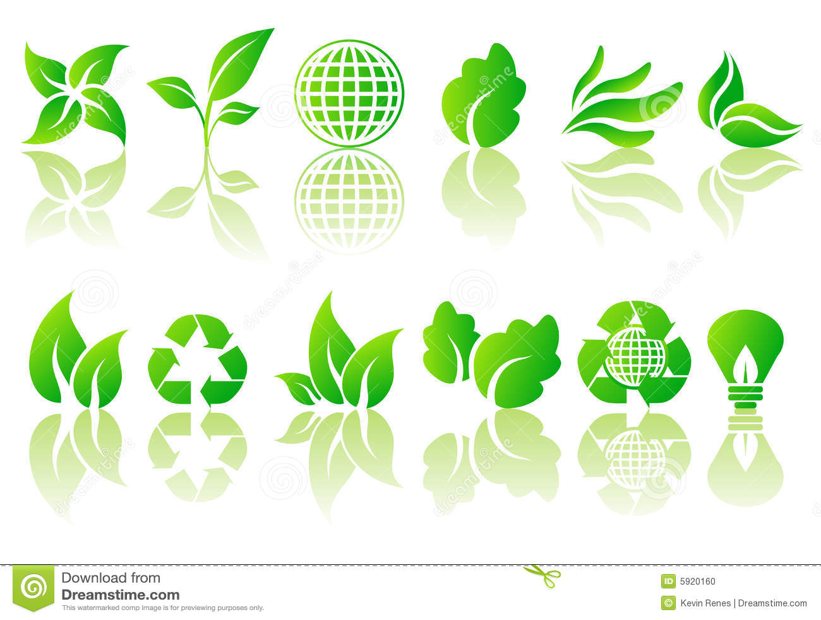 Vector reeks ecologische symbolen