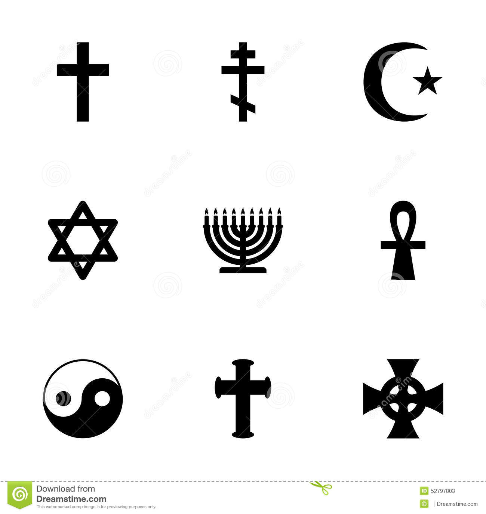 Religious symbols religion signs vector set stock vector vector religious symbols icon set stock photos biocorpaavc Choice Image
