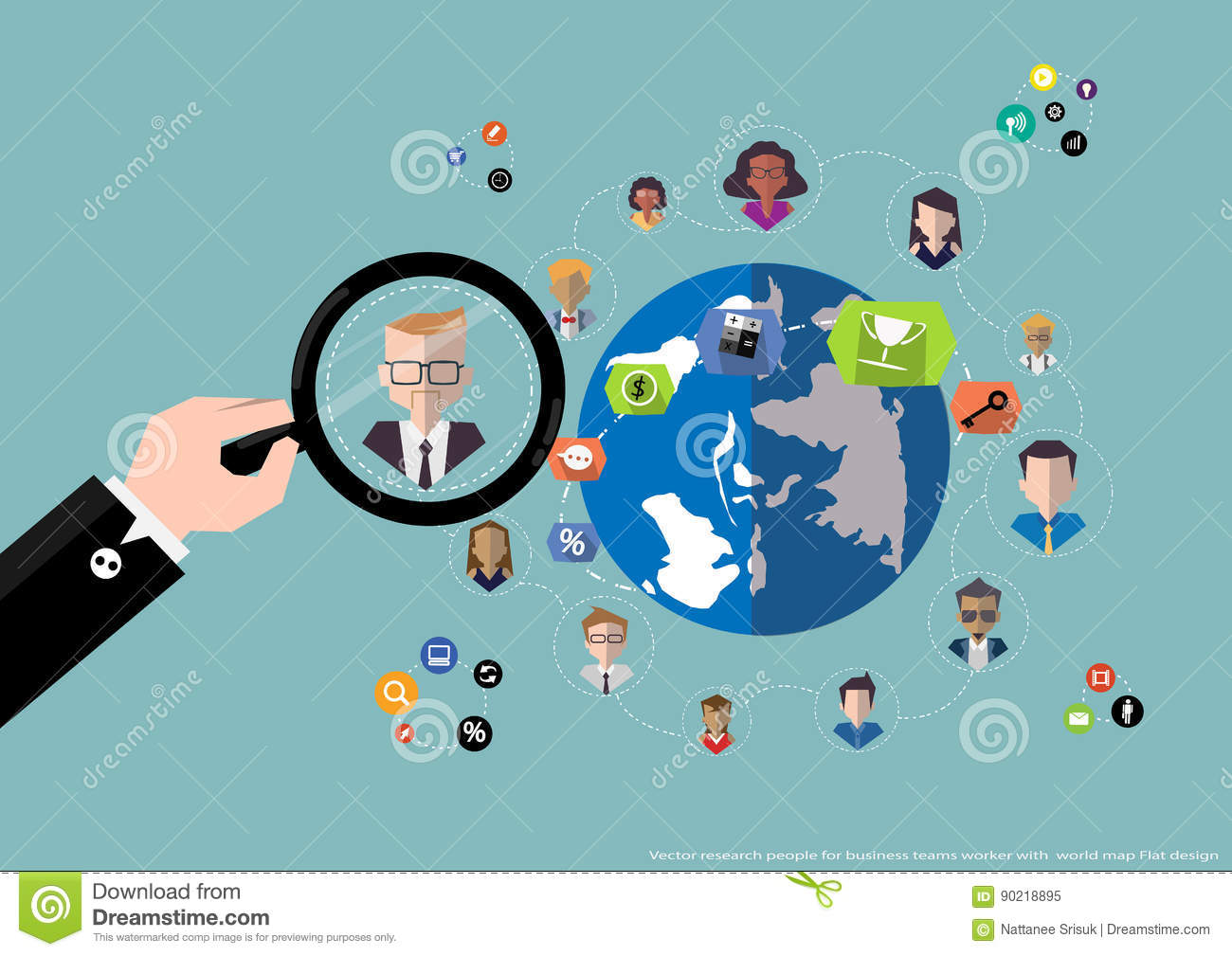 Vector research people for business teams worker with world map flat download vector research people for business teams worker with world map flat design stock vector gumiabroncs Gallery