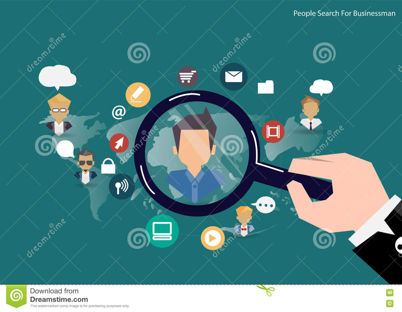 vector research people concept of human resources management vector research people concept of human resources management professional staff research head hunter job