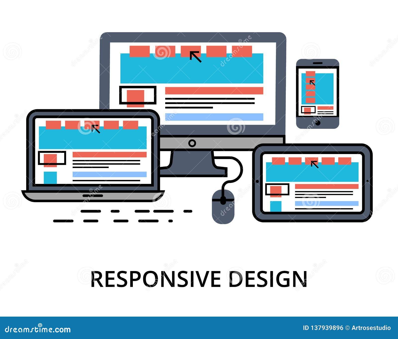 Vector of responsive design