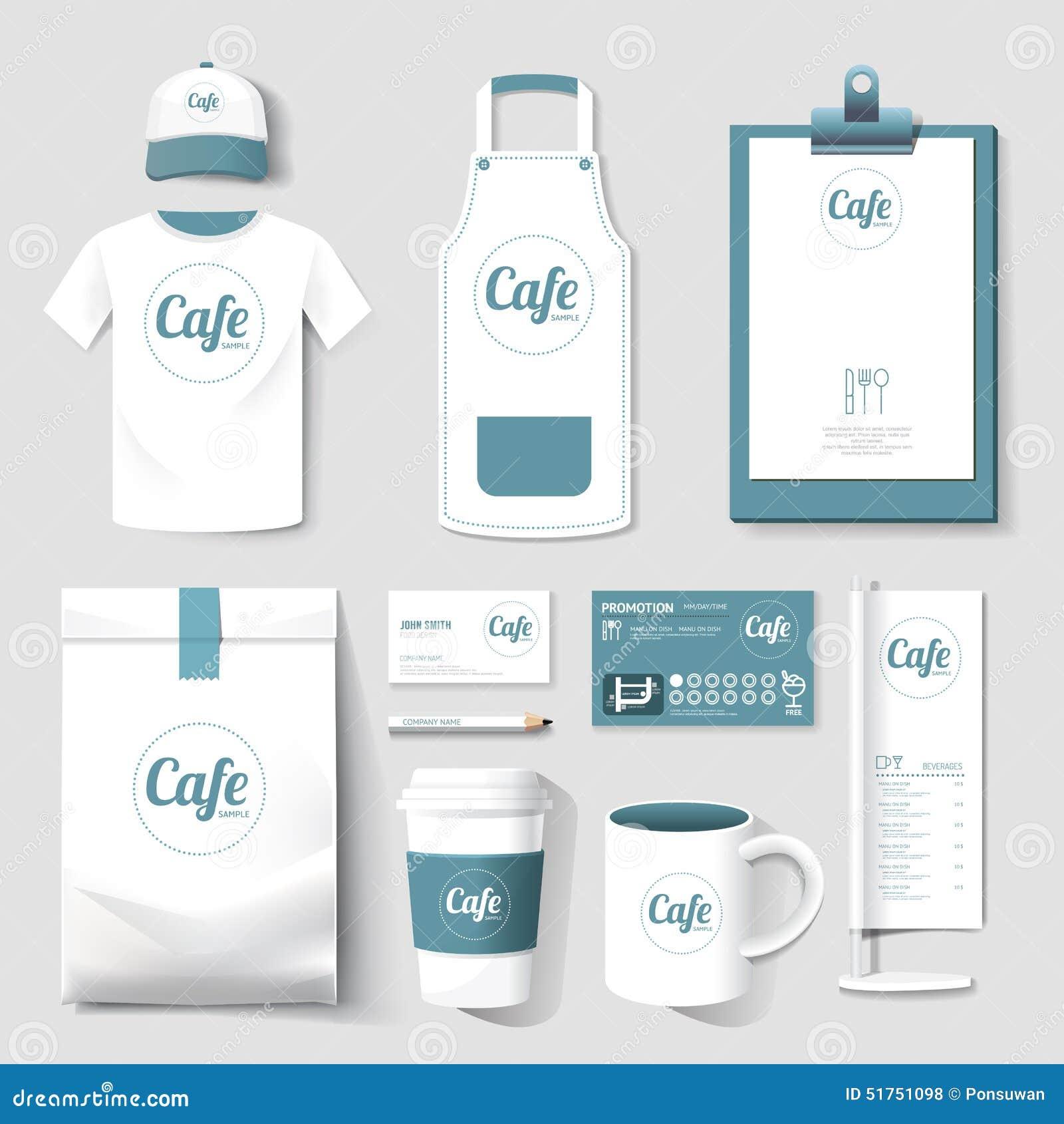 Shirt uniform design vector - Vector Restaurant Cafe Set Flyer Menu Package Royalty Free Stock Photos