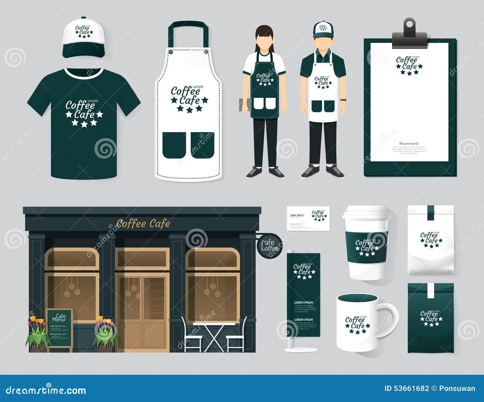 vector restaurant cafe set shop front design  flyer  menu