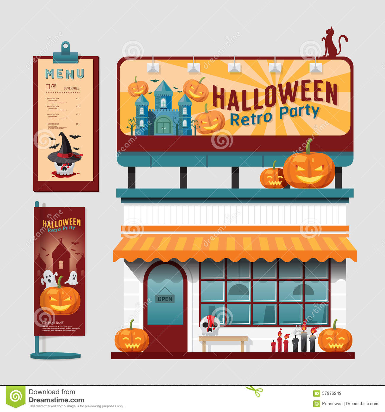 Business Cards Cafe And Restaurant Vector