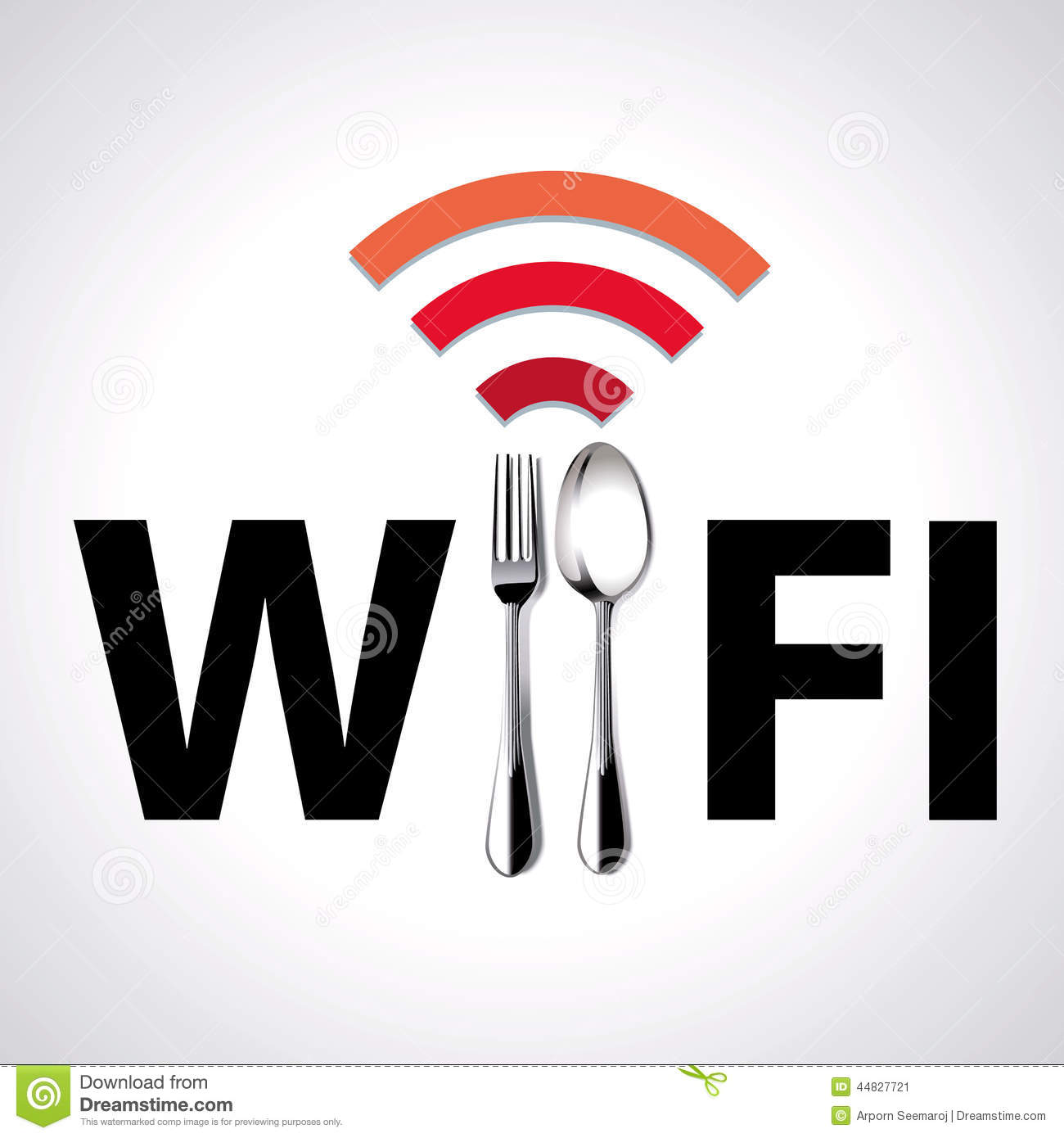 Vector of restaurant location free wifi stock vector for Localisation wifi