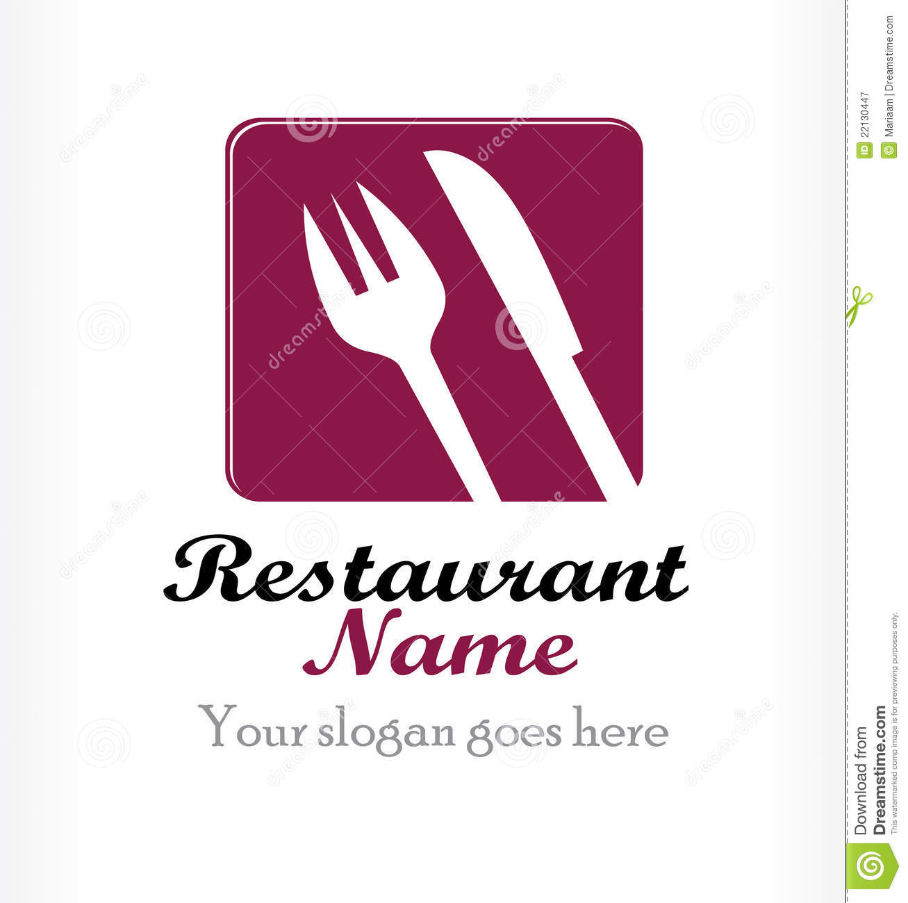 Vector restaurant logo design stock image