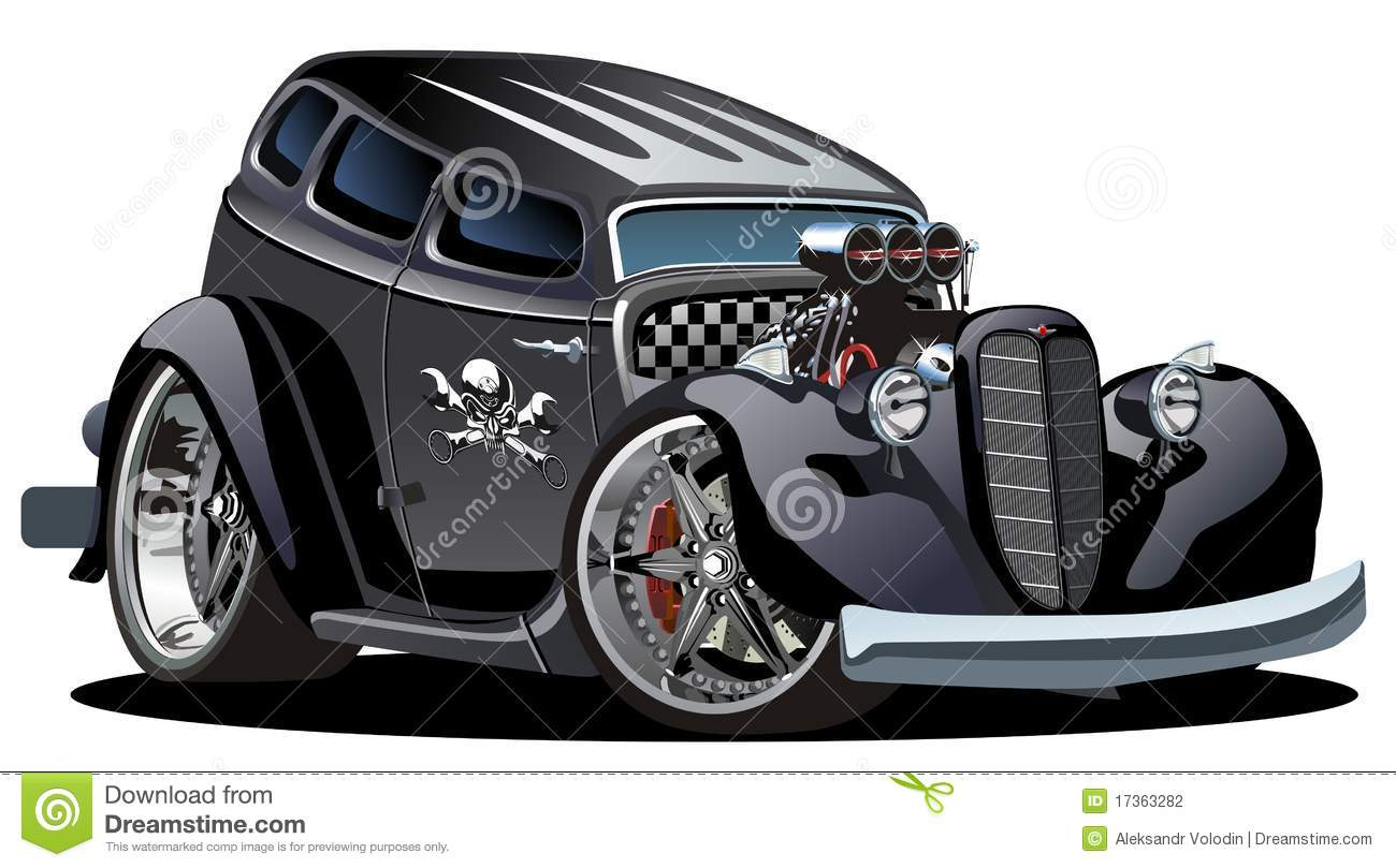 Vector Retro Cartoon Hotrod Stock Photography Image