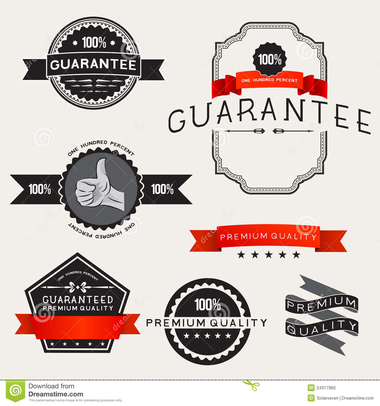Vector Retro Label Designs Stock Photo - Image: 24317960
