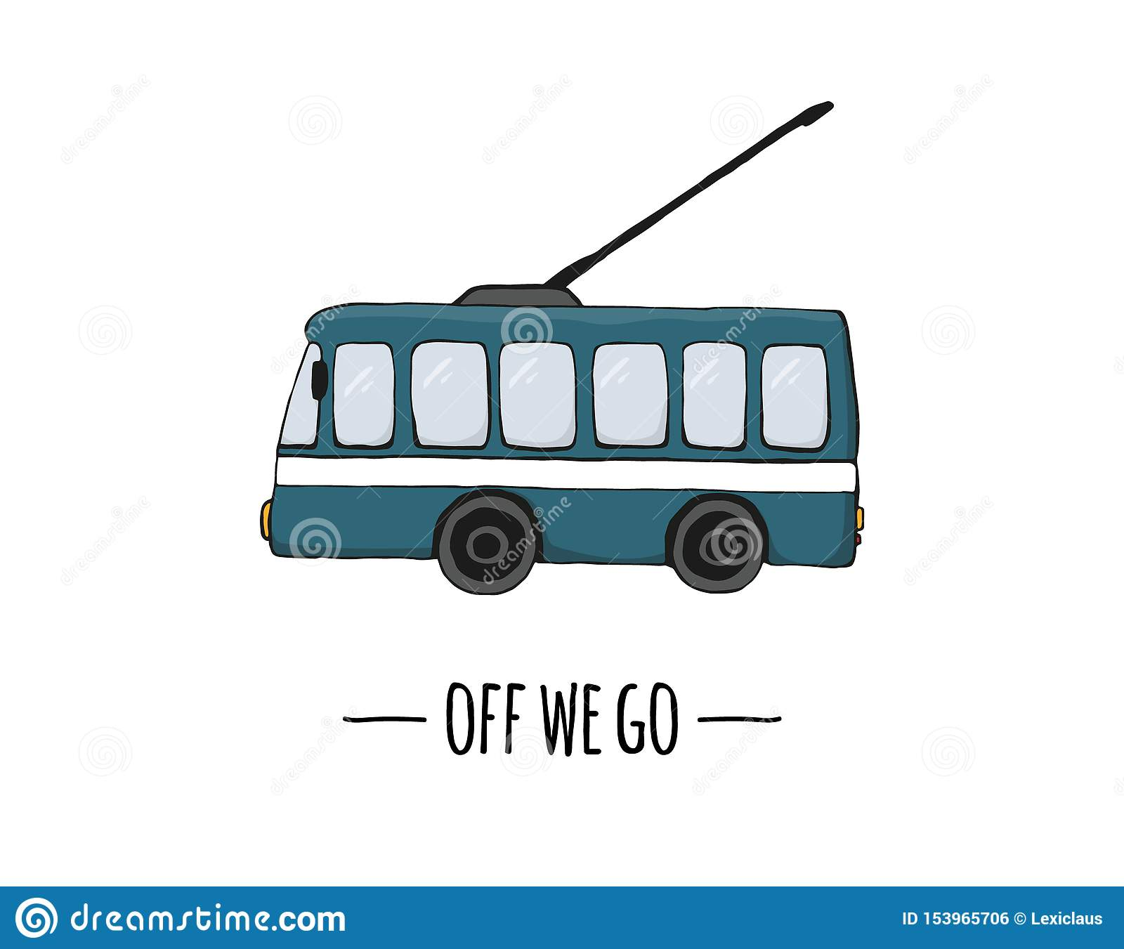 Vector retro transport icon. Vector illustration of trolley bus