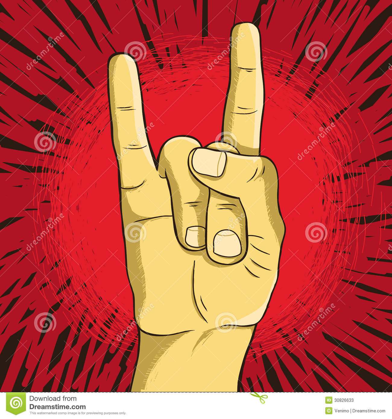 Vector Rock N Roll Symbol Stock Photos - Image: 30826633