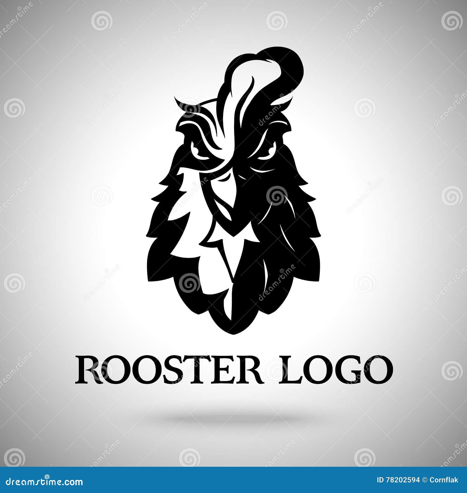 vector rooster head logo template stock vector image rooster vector free rooster vector free