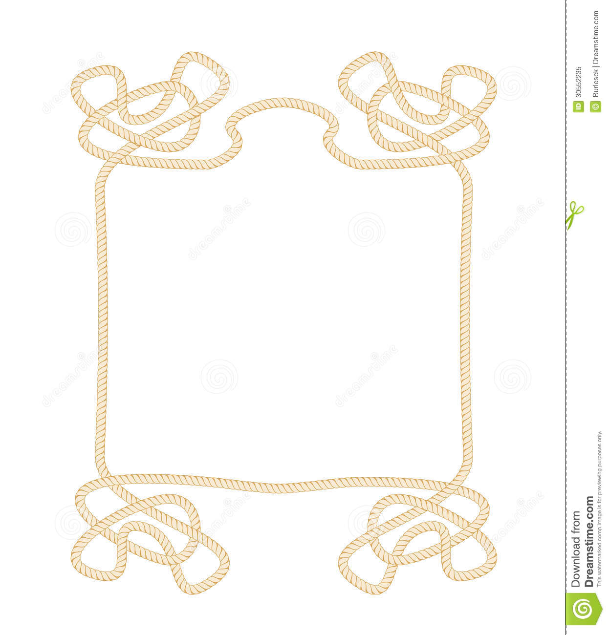 Vector rope frame royalty free stock photo image 30552235 Rope photo frame