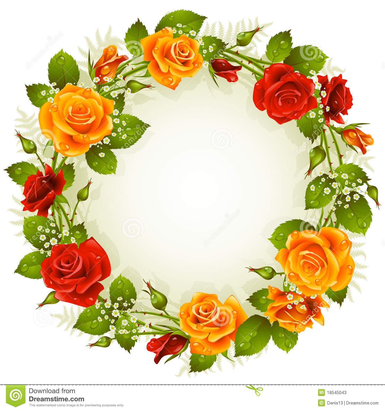 Vector Rose Frame In The Shape Of Circle Stock Photos - Image ...