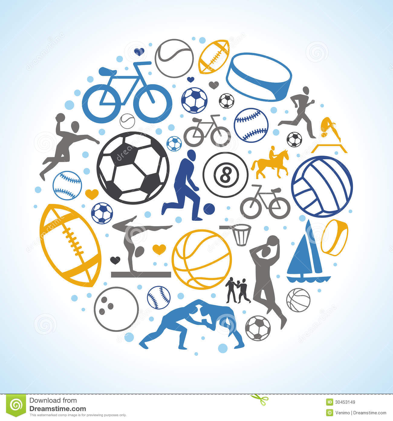 Royalty Free Stock Images Vector Round Concept Sport Icons Signs Healthy Life Style Image30453149 on Beach Ball Clip Art