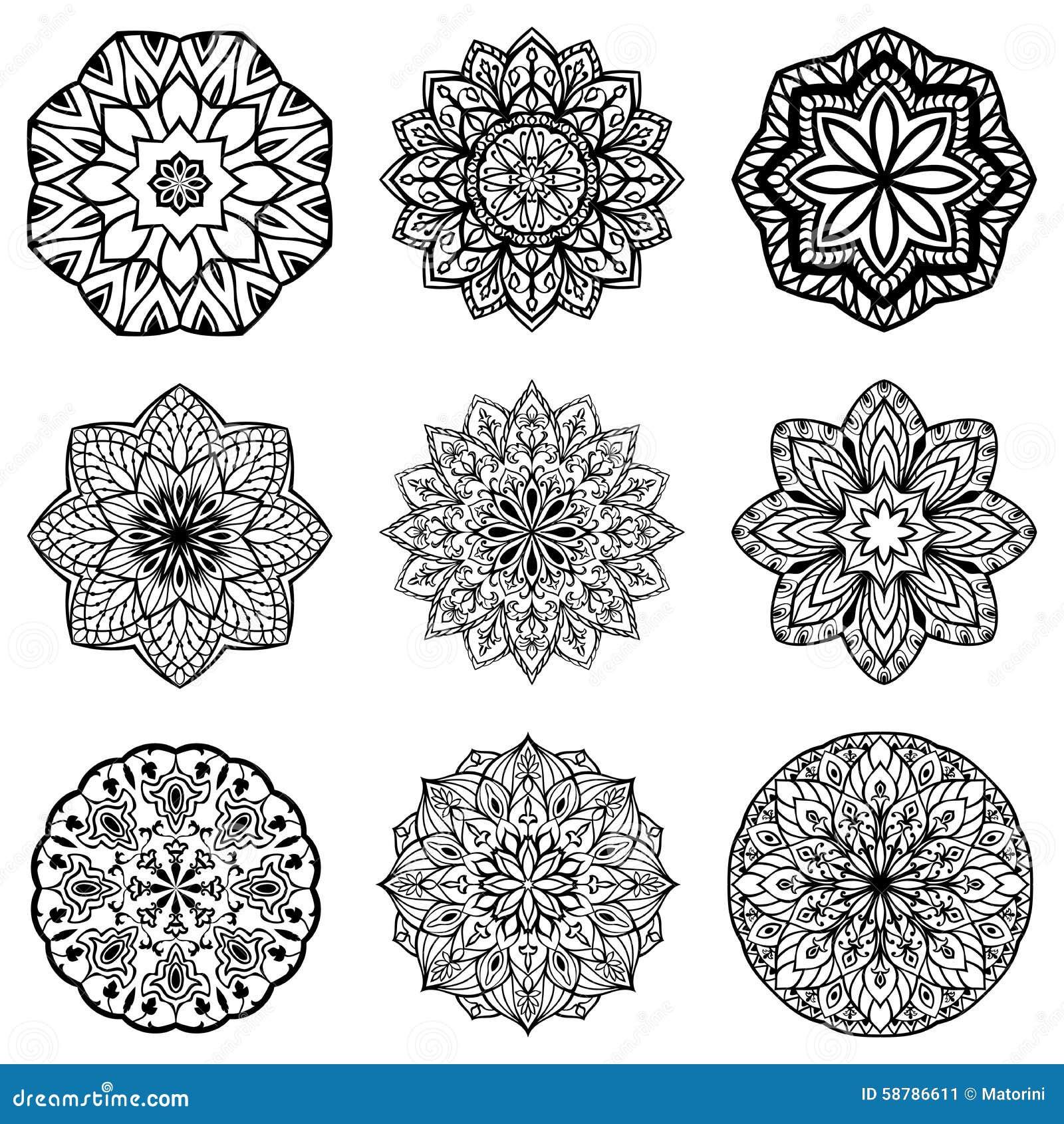 vector round ethnic ornaments stock vector image 58786611