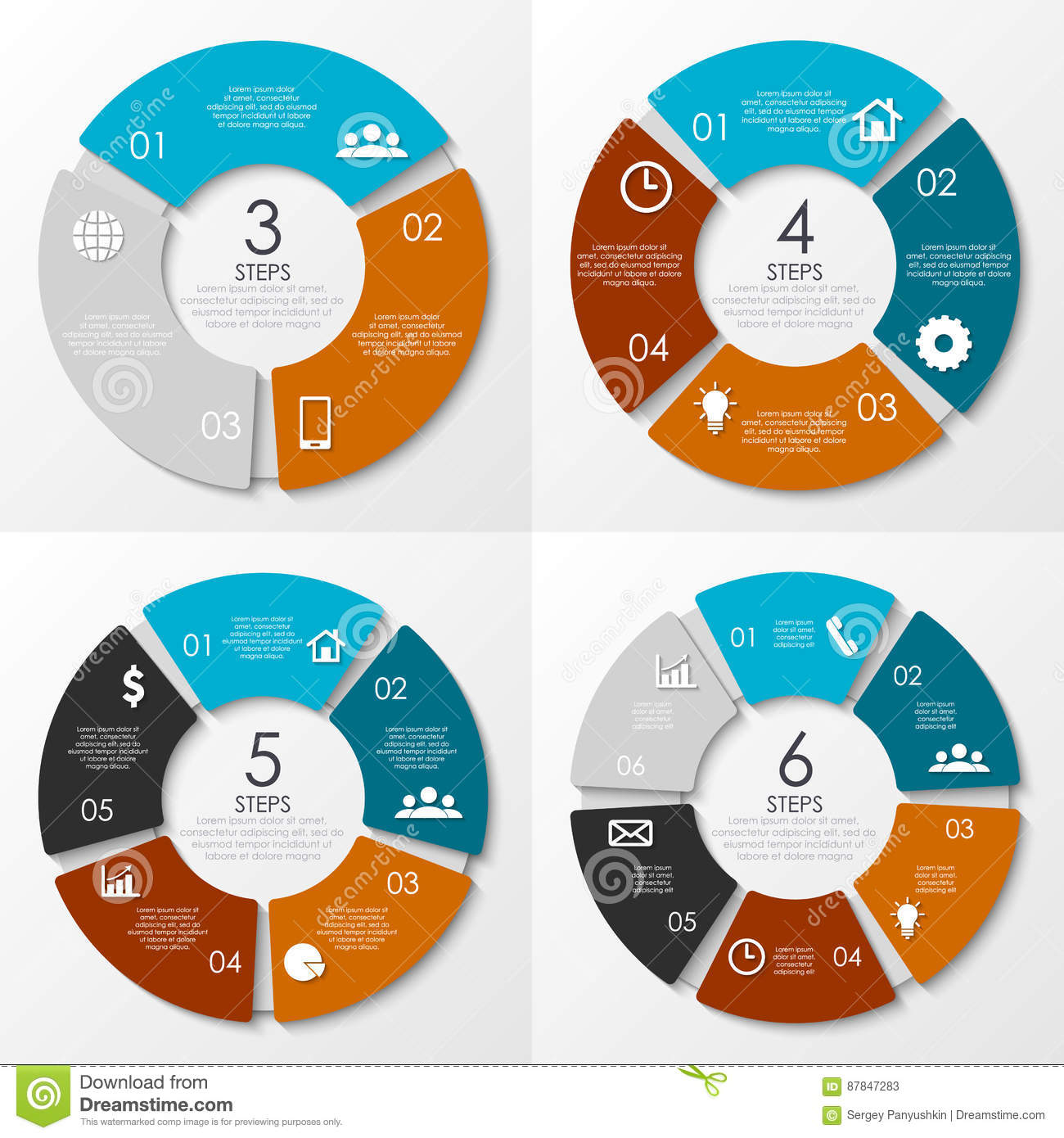 vector round infographics template for circle diagram stock vector