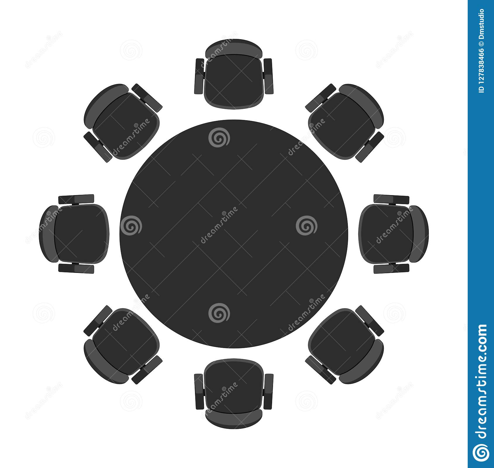 Vector Round Table For Discussion Stock Vector ...