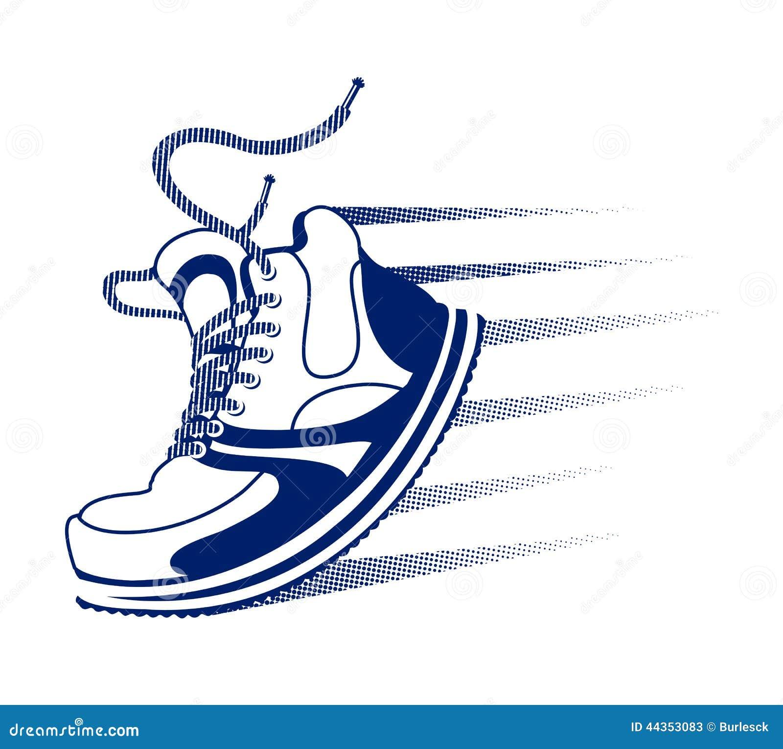 Free Running Shoe Silhouette