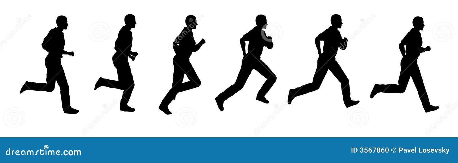 Business Man Frames Running Walk Sequence Stock Vector ...