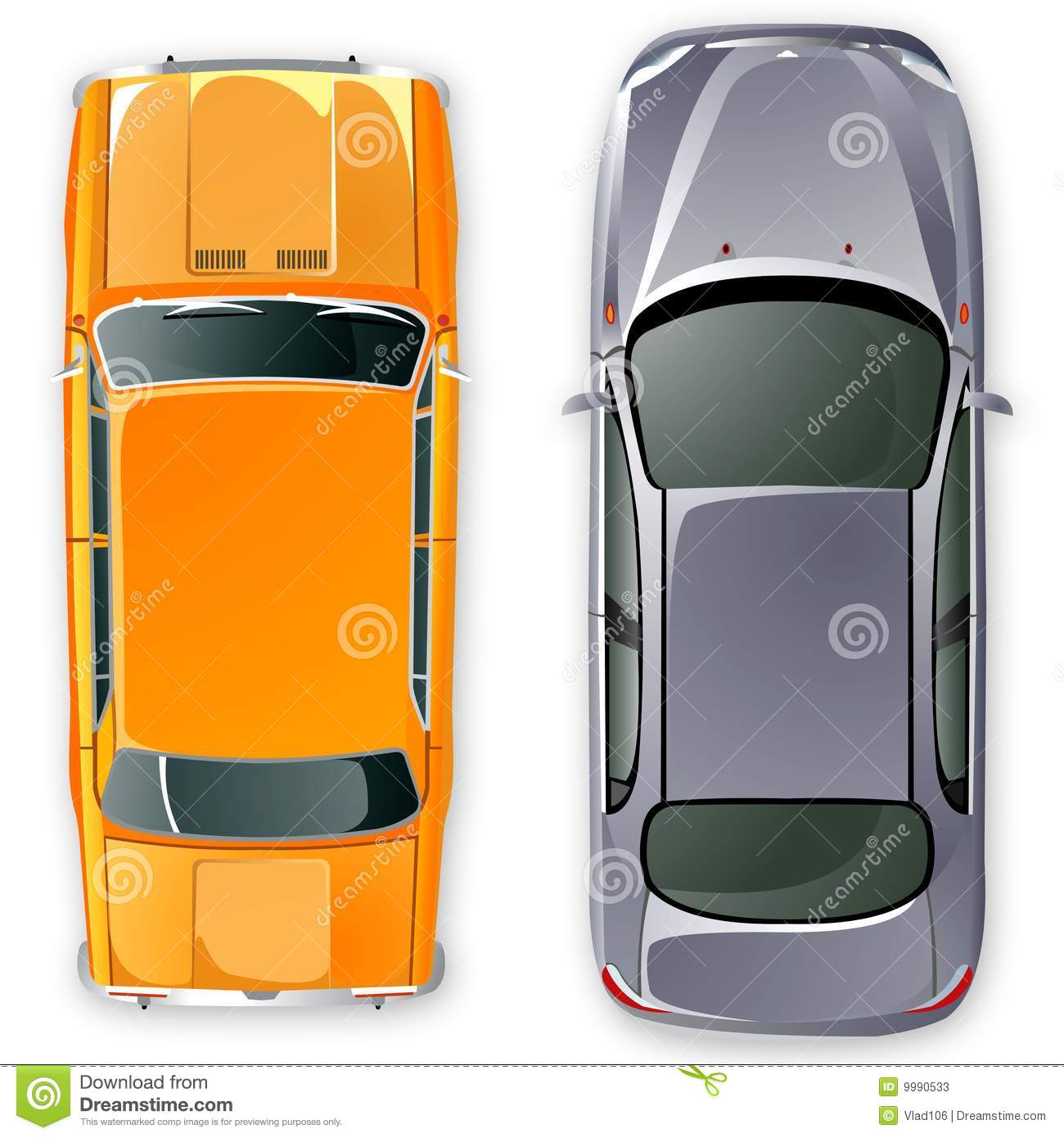 Vector Russian USSR Cars. Stock Vector. Image Of Front