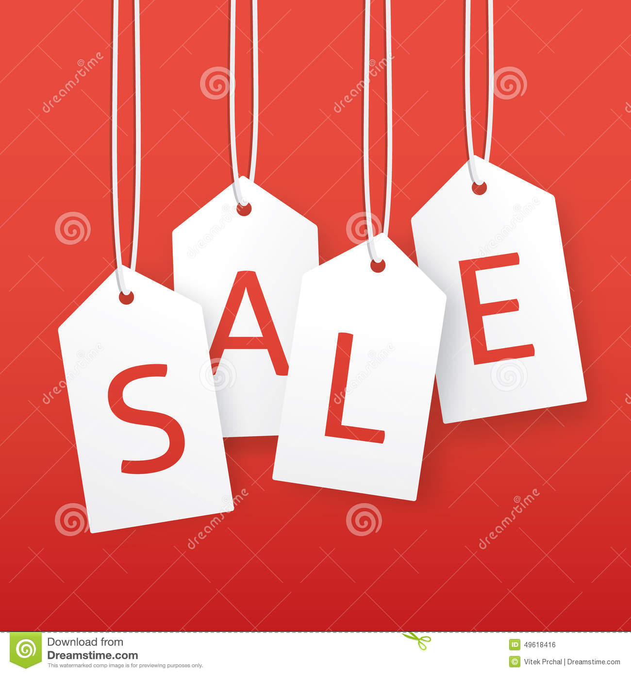 Vector Sale Illustration Paper Hanging Price Tags Vector – Sale Tag Template