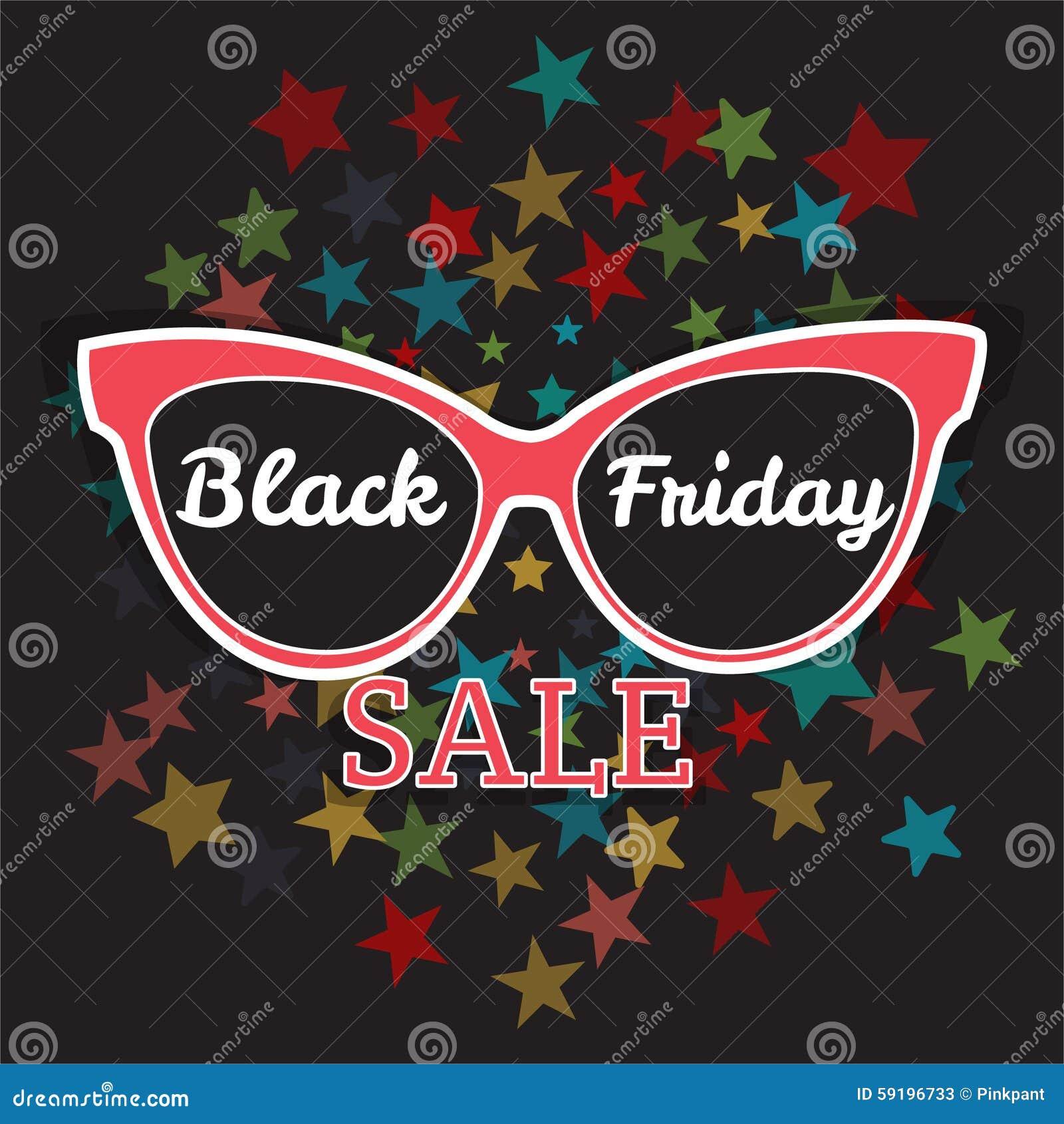 vector sale poster advertising black friday  sunglasses black friday sale  stock illustration