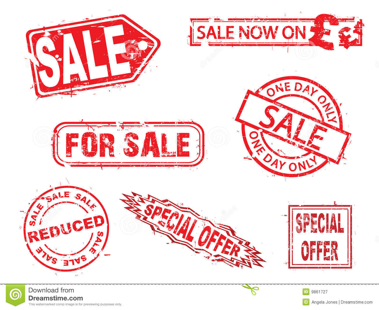 Vector Sale Rubber Stamps Series Stock Vector Image