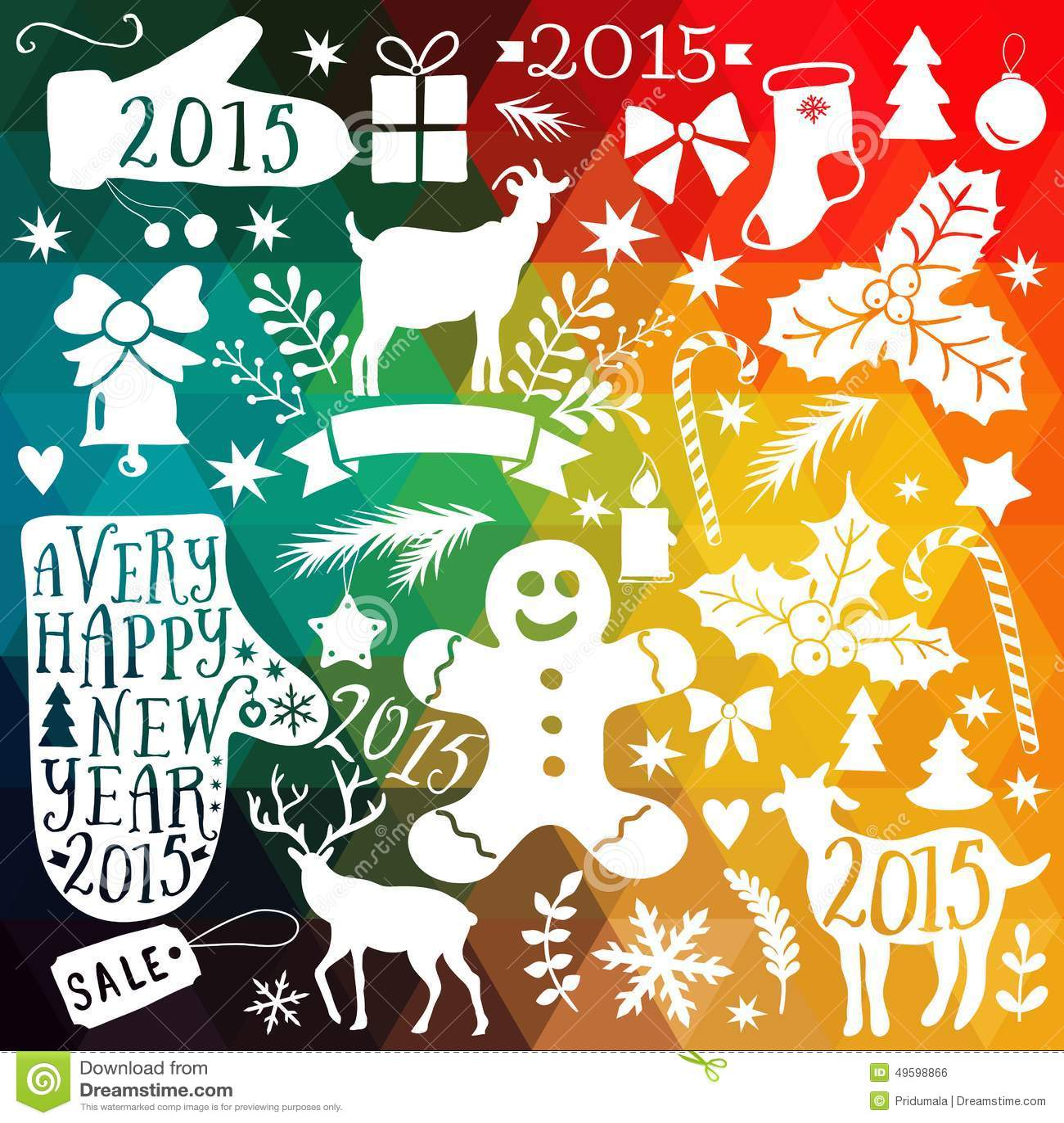 Vector Sammlung der frohen Weihnachten, Bündelikonen des neuen Jahres, Gekritzelelement für Weihnachtsdesign Satz des Winterurlau