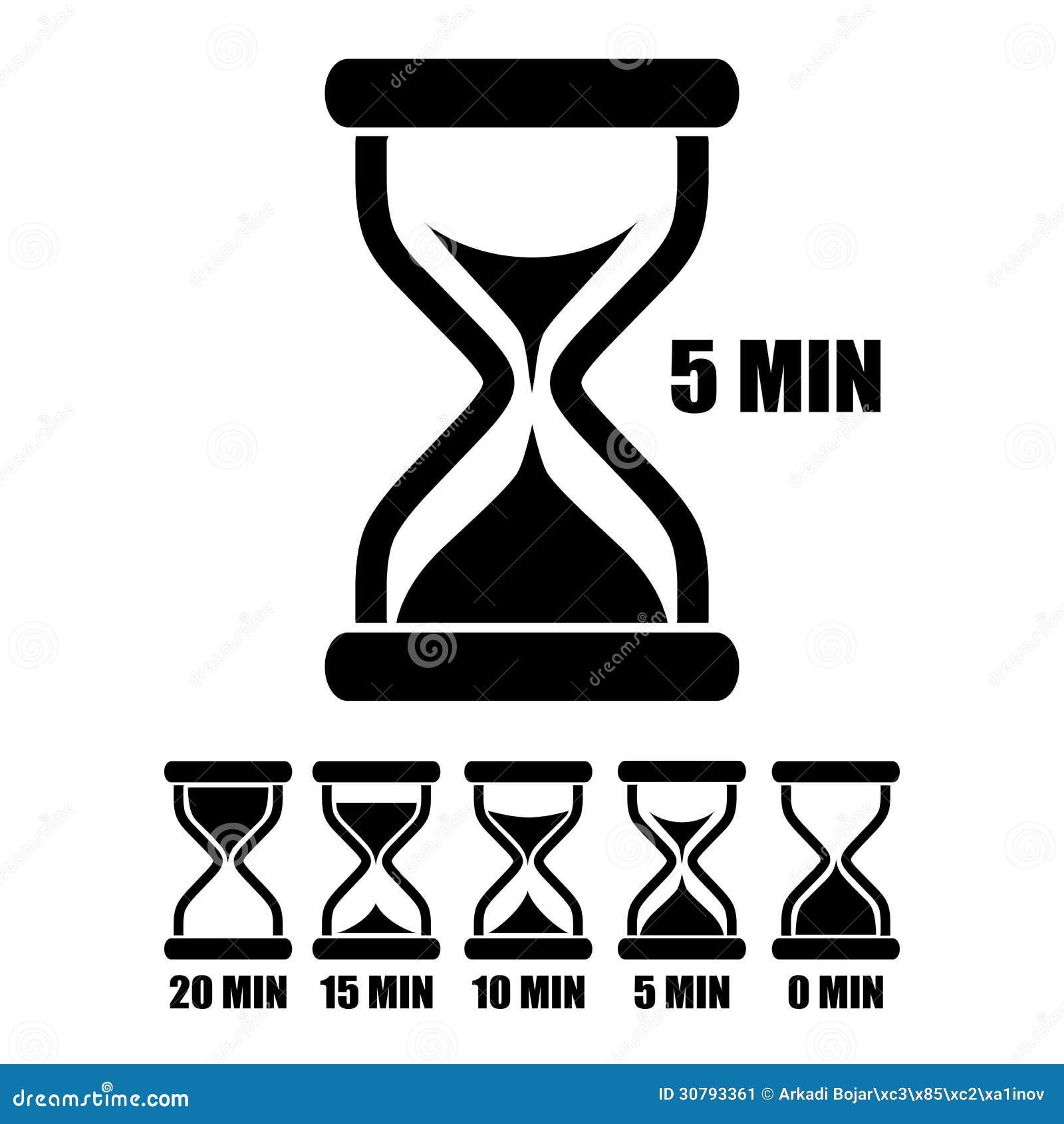 sand glass timer stock image