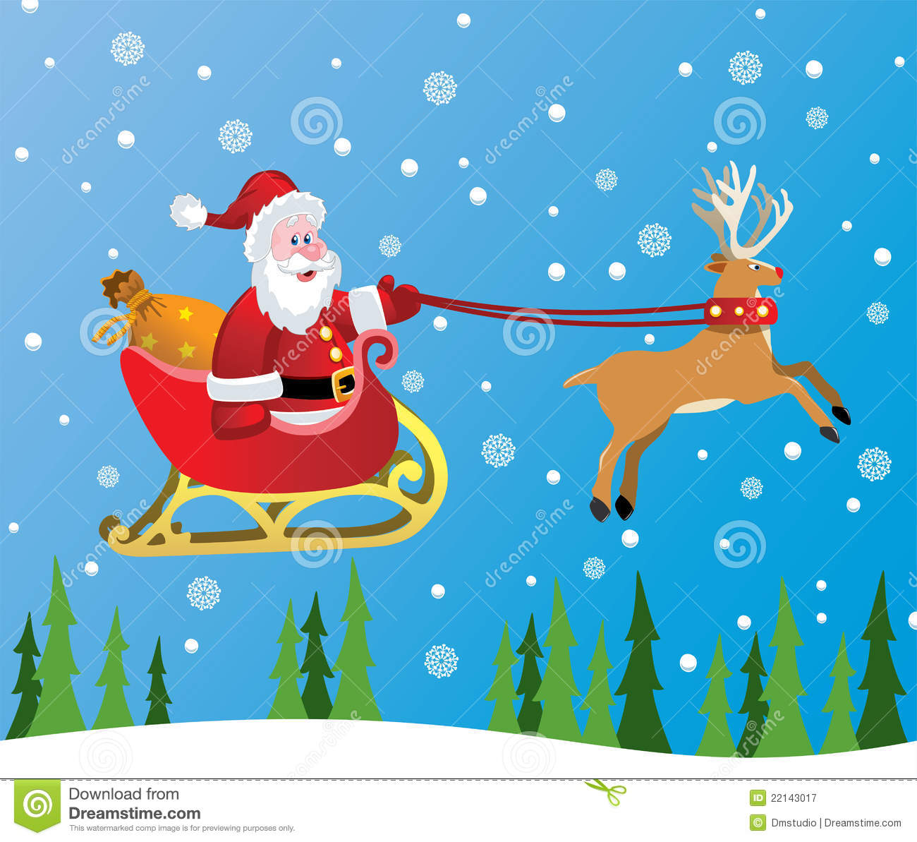 Vector Santa Claus And Red Nosed Reindeer Stock Vector ...