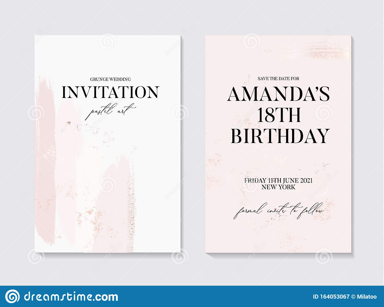 Save the date Rose gold foil save the date Wedding invite,Save the date template Modern invite Texture save the date Instant download