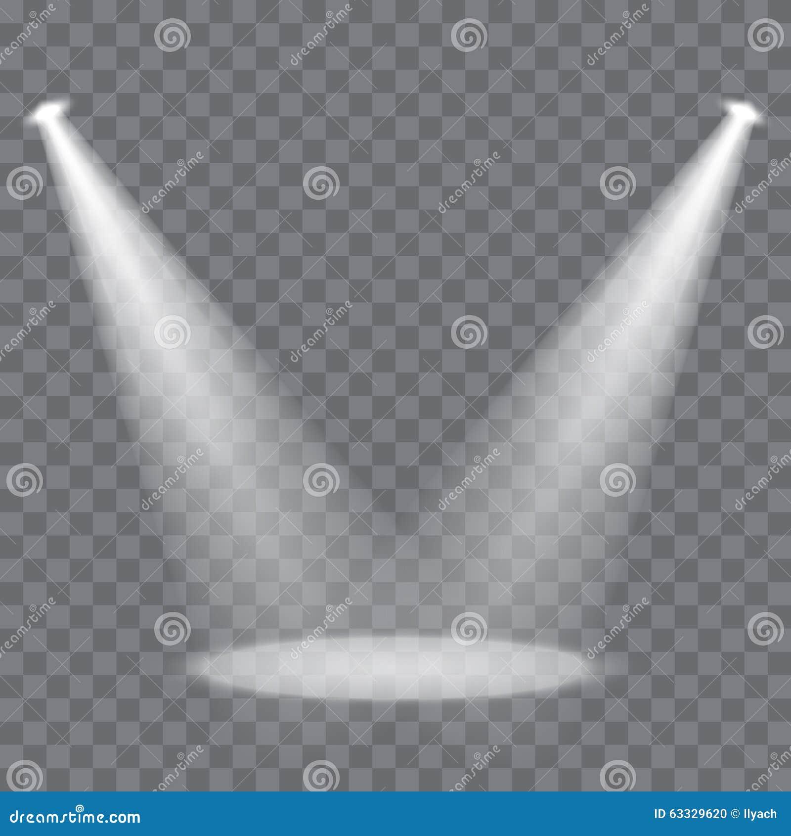 Vector Scene Spotlights Stock Illustration Image 63329620
