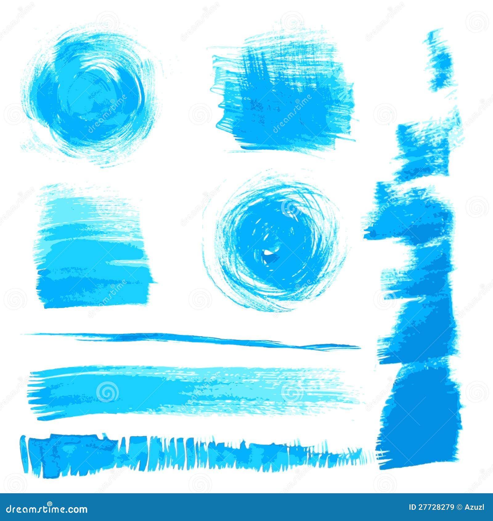 Vector schöne handgemachte blaue Anschläge