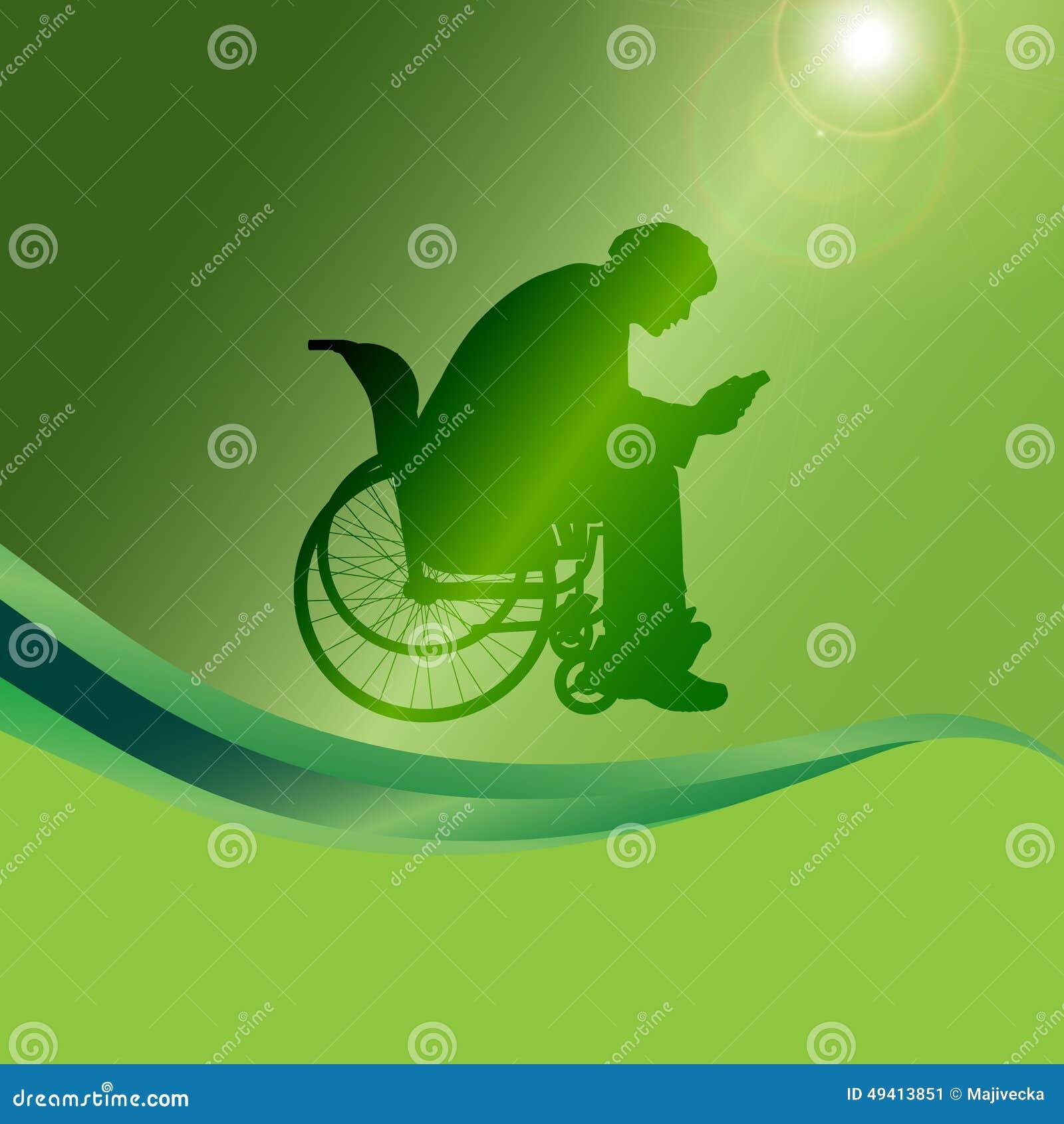 Download Vector Schattenbild Eines Mannes In Einem Rollstuhl Vektor Abbildung - Illustration von mobilität, leute: 49413851