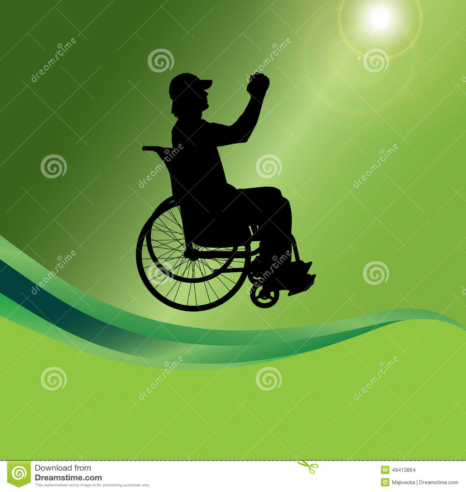 Download Vector Schattenbild Eines Mannes In Einem Rollstuhl Vektor Abbildung - Illustration von glaube, hintergrund: 49413864