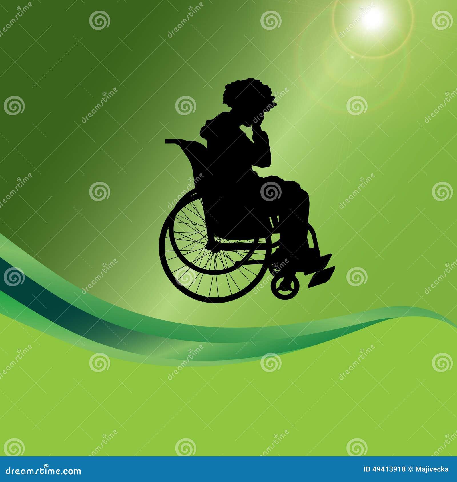 Download Vector Schattenbild Eines Mannes In Einem Rollstuhl Vektor Abbildung - Illustration von traurig, gesundheit: 49413918