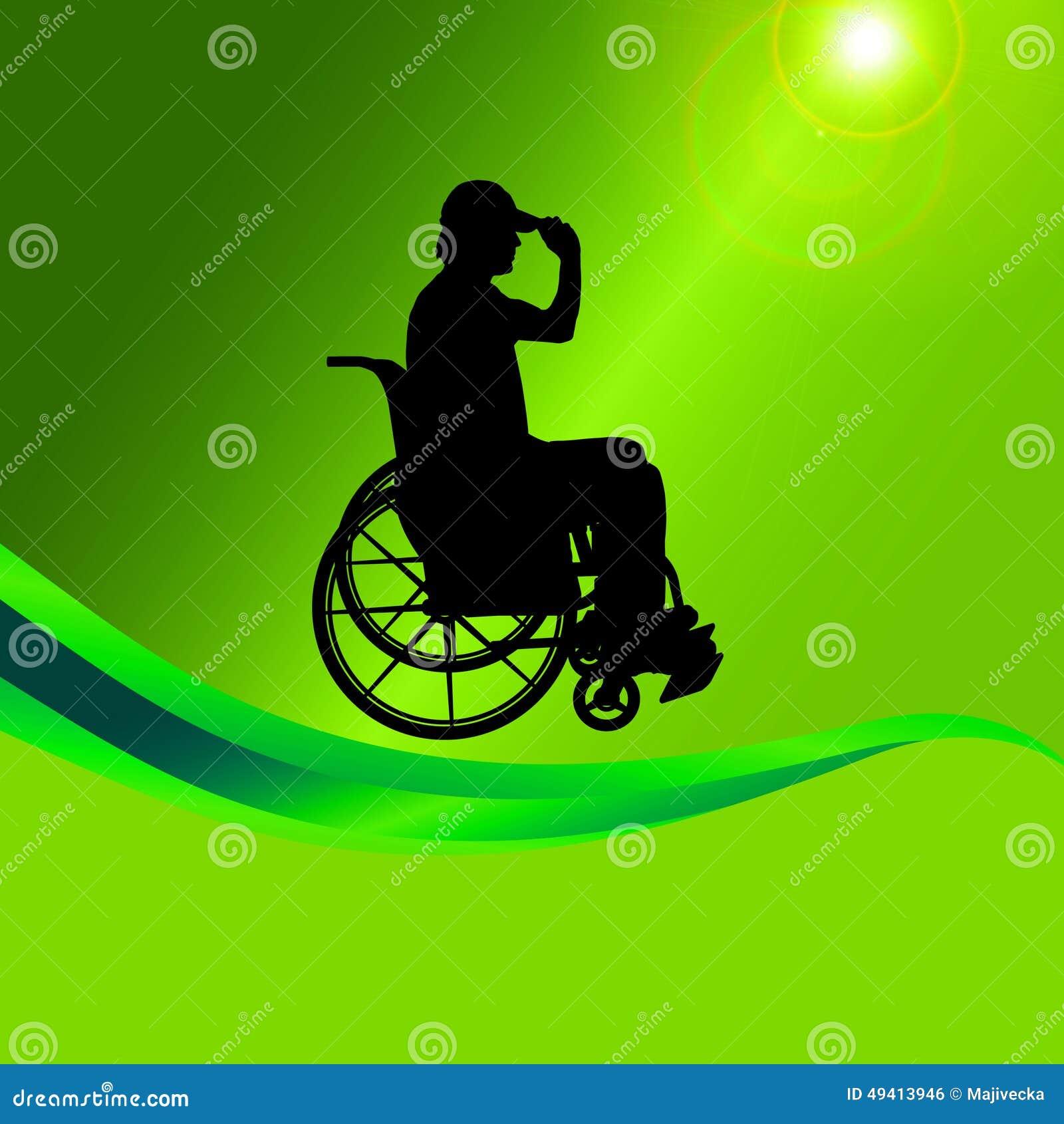 Download Vector Schattenbild Eines Mannes In Einem Rollstuhl Vektor Abbildung - Illustration von erfolg, medizin: 49413946