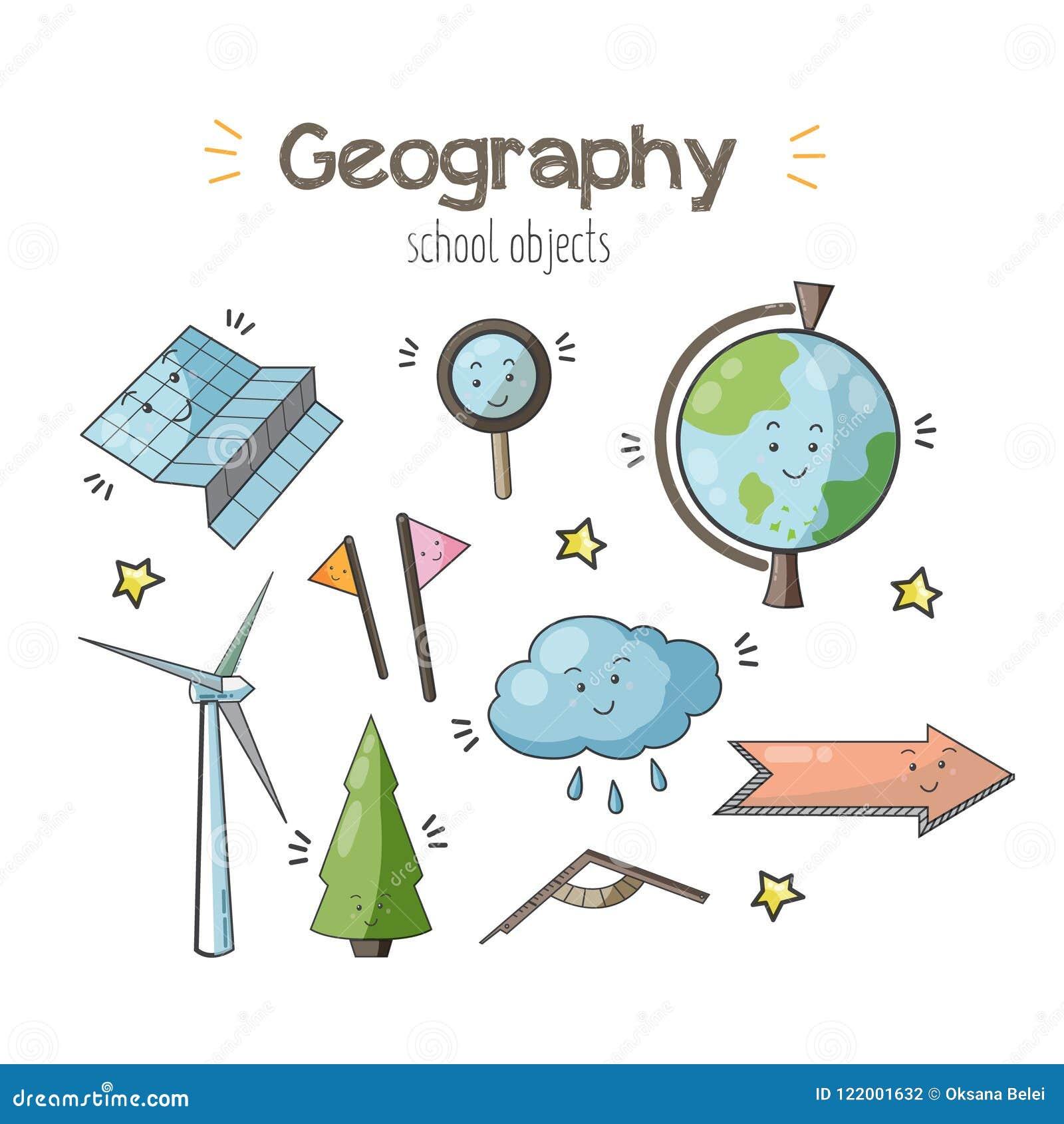 Science Stickers Cartoon Vector