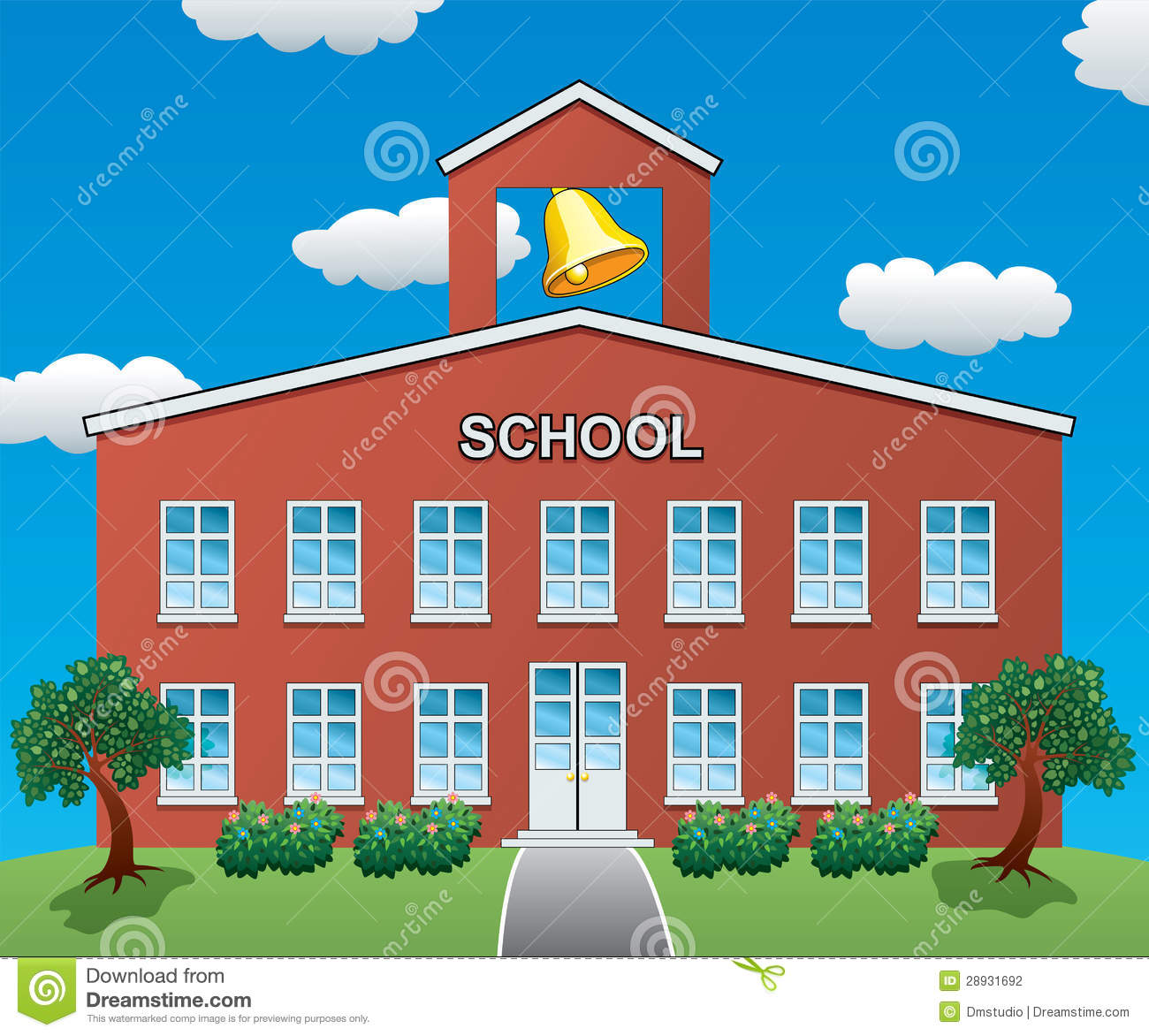Vector School House Stock Photography - Image: 28931692