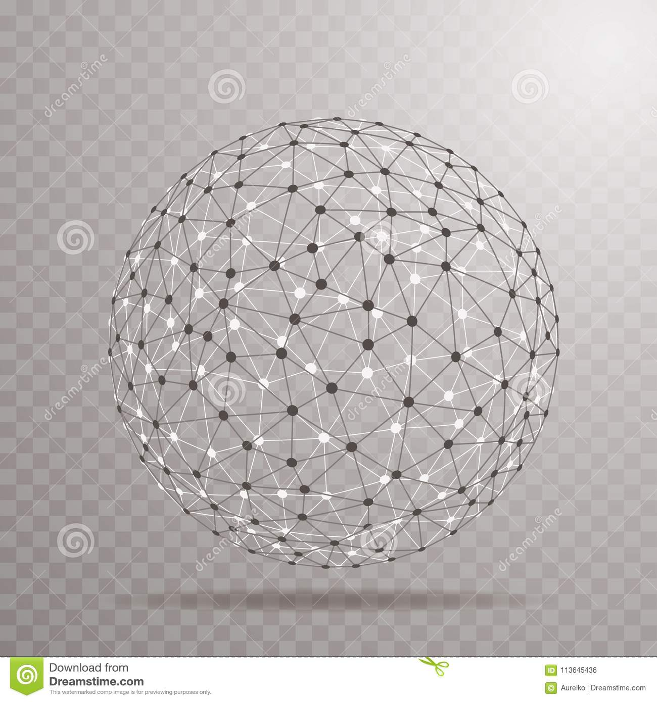 Wire ball trans stock vector. Illustration of networking - 113645436
