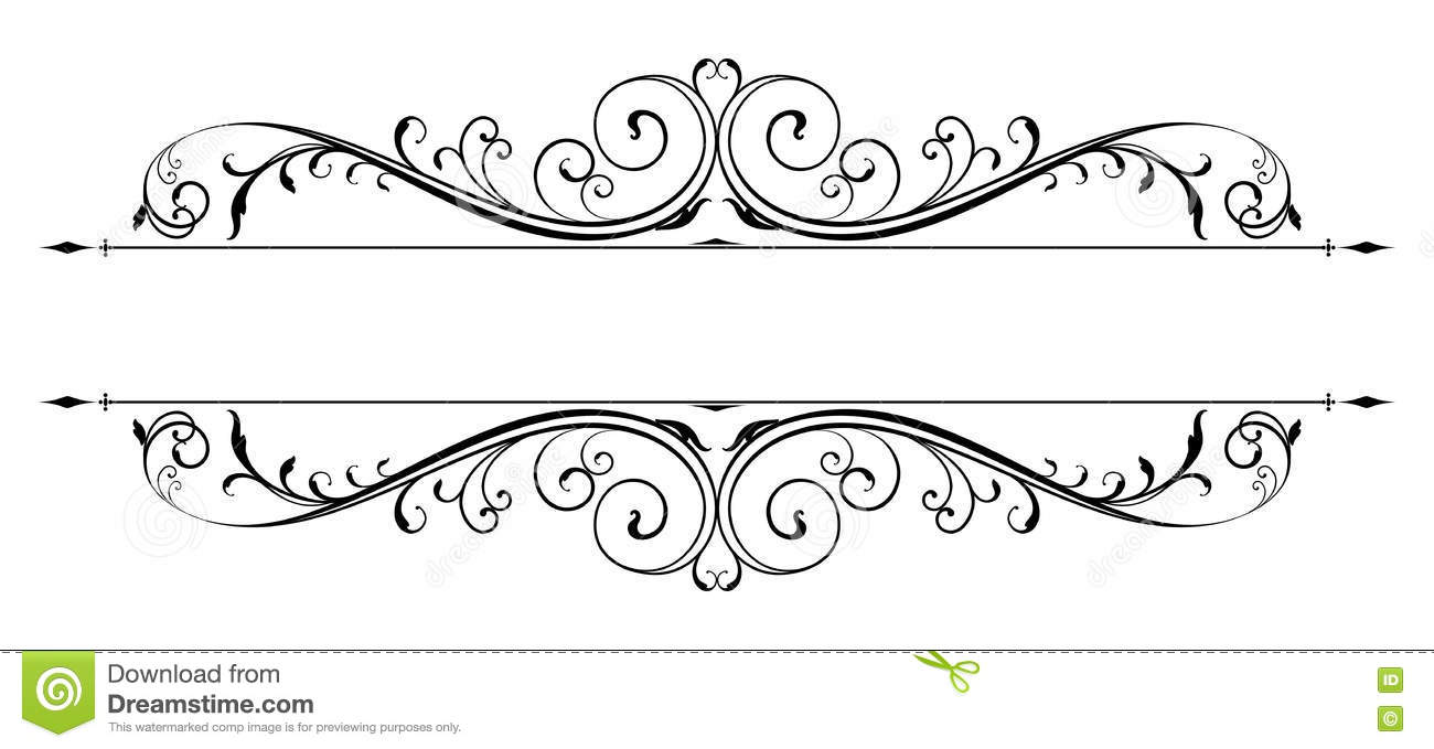 vector scroll accent stock vector illustration of calligraphy