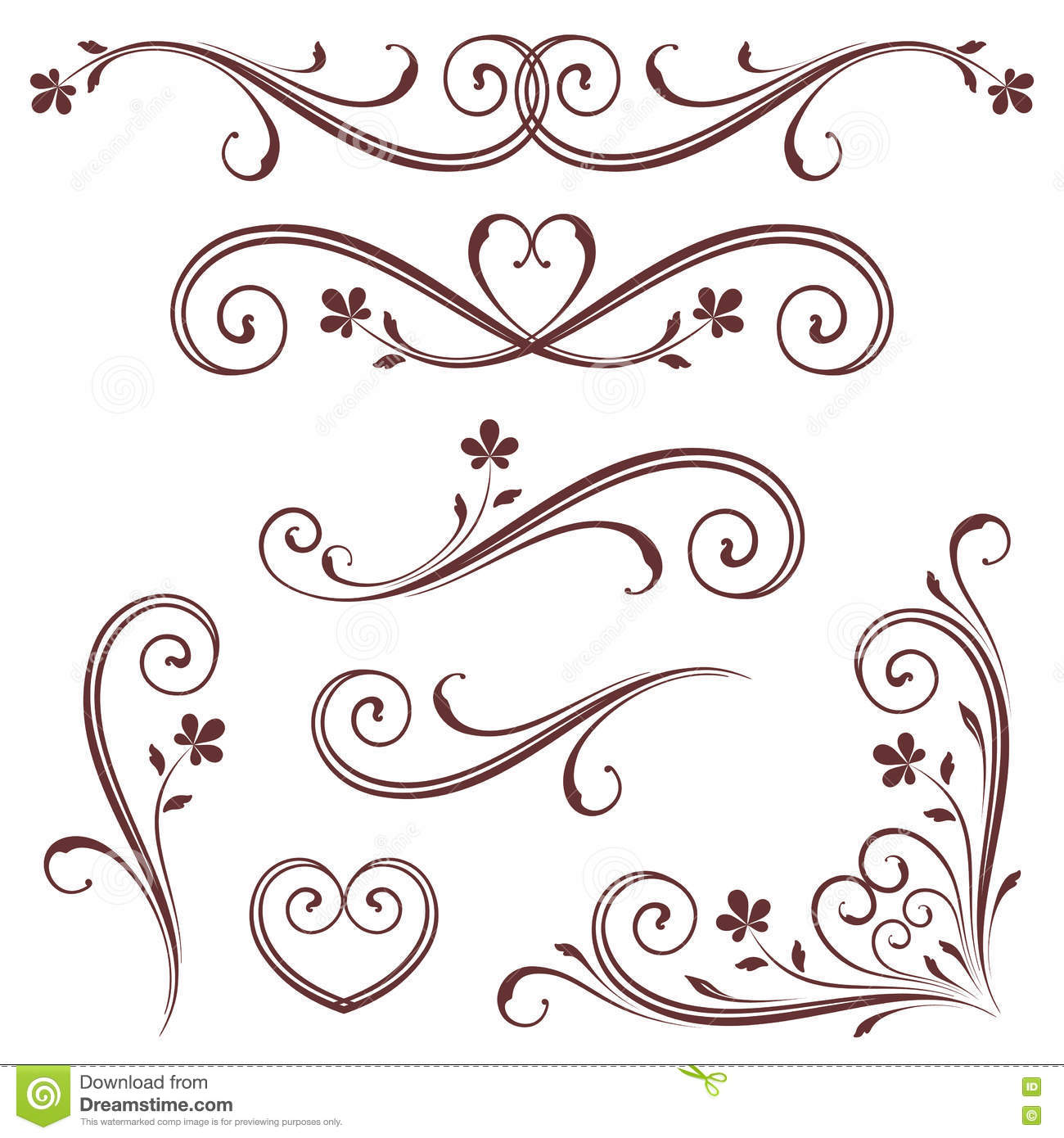 Vector Scroll Set stock vector. Illustration of border ...