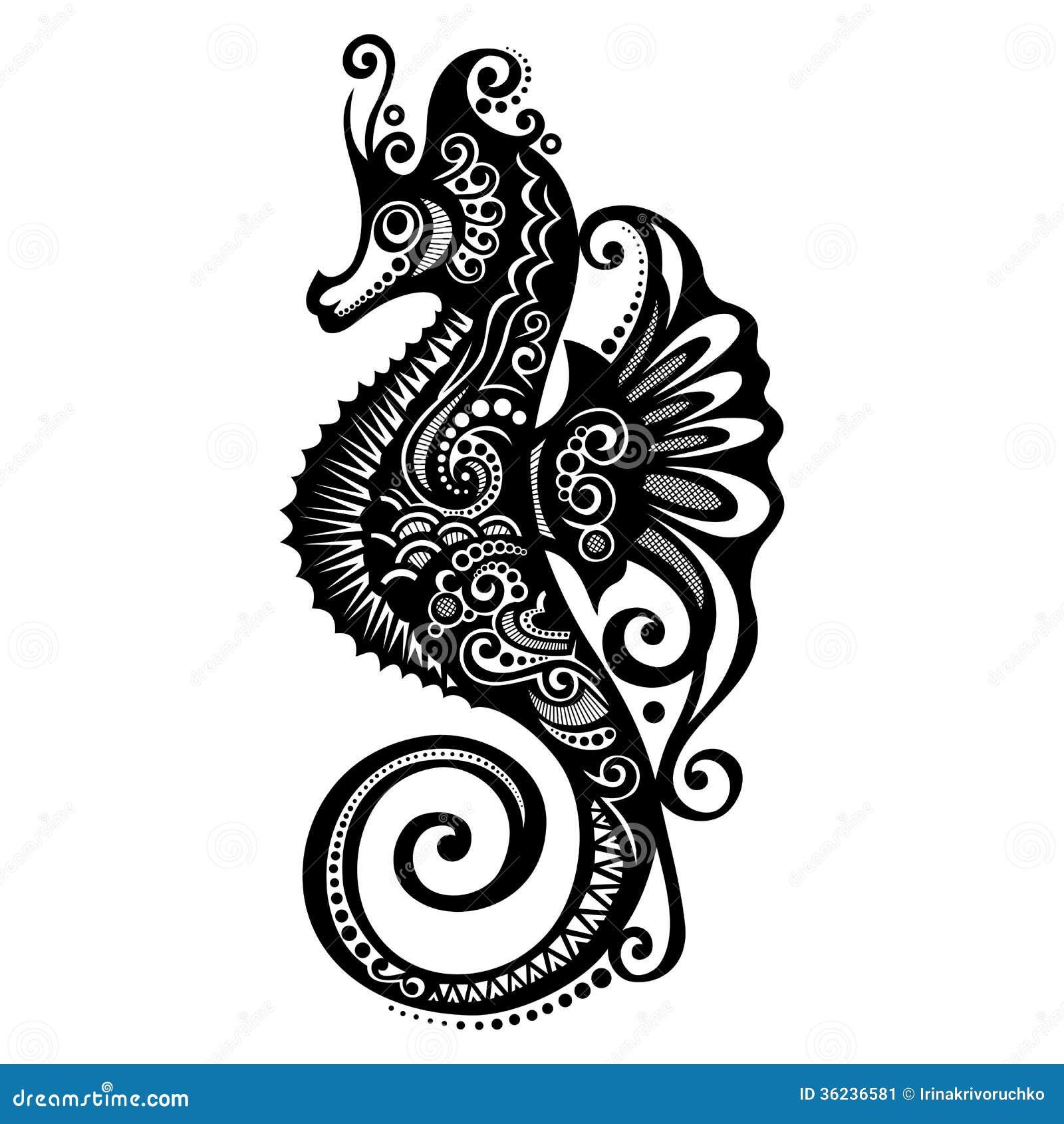 vector sea horse stock image image 36236581 sea horse clip art jpeg seahorse clip art black and white