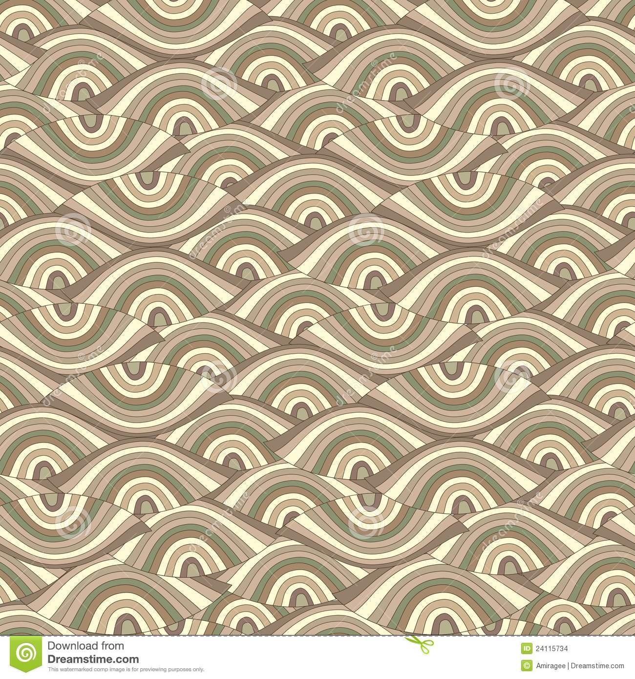 Vector seamless abstract background with eyes