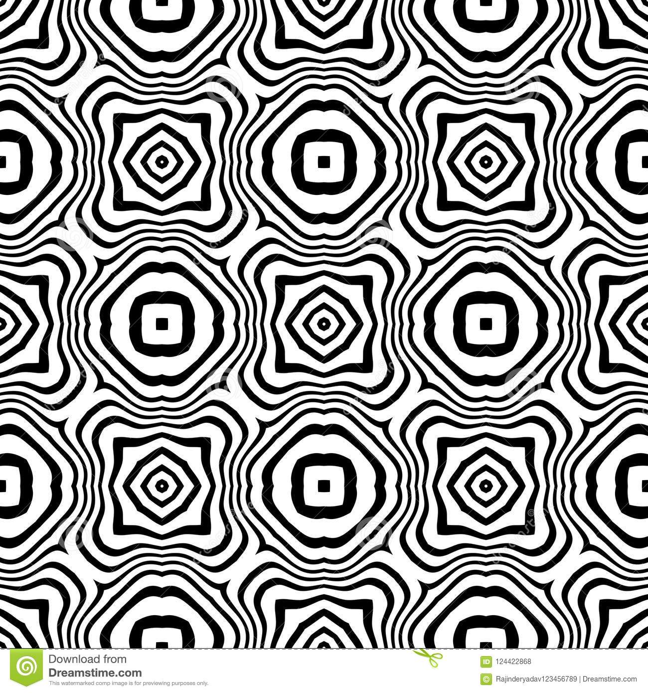 Vector seamless abstract pattern black and white. abstract background wallpaper.