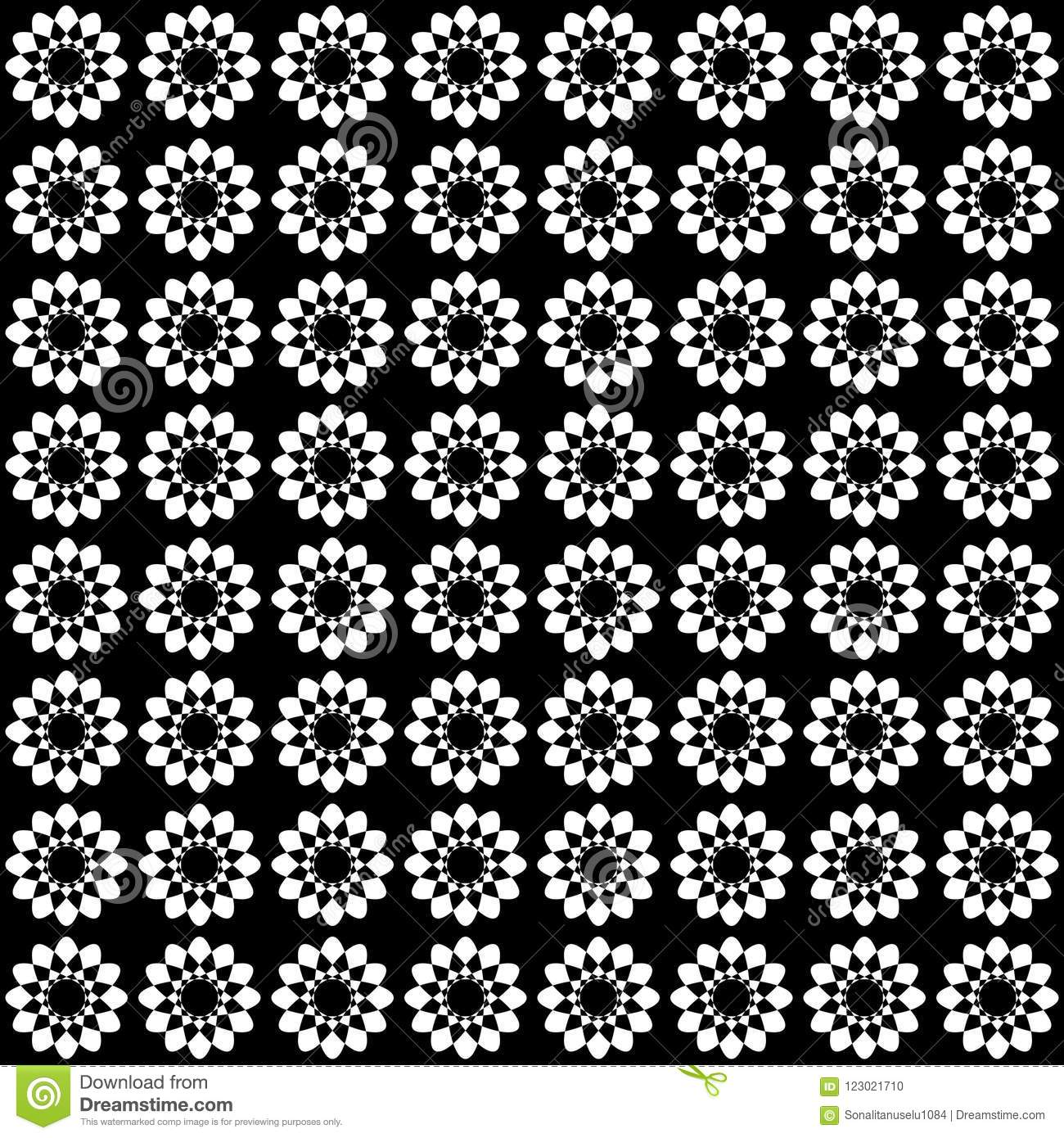 Vector Seamless Abstract Pattern Black And White Abstract Background Wallpaper Stock Vector Illustration Of Airport Circle 123021710